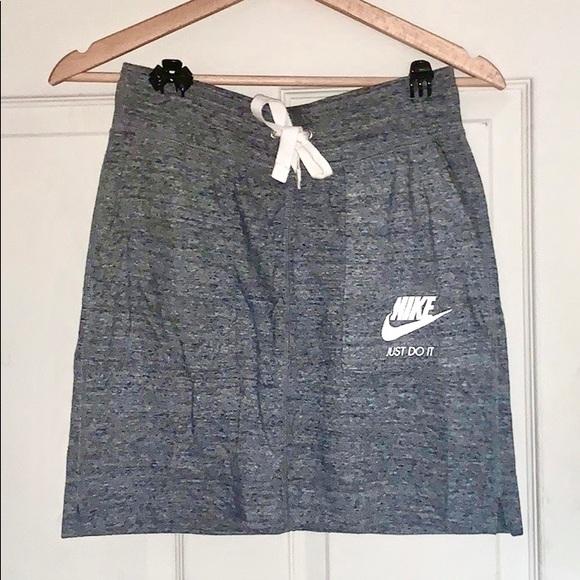 Nike Dresses & Skirts - ☑️🤍👟 NIKE Grey Drawstring Mini Skirt ✨
